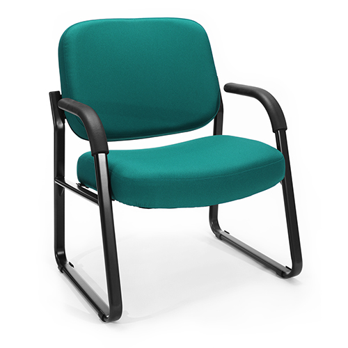 Teal Big and Tall Guest/Reception Chair