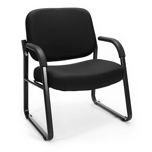 OFM Office Furniture Black Big and Tall Guest/Reception Chair