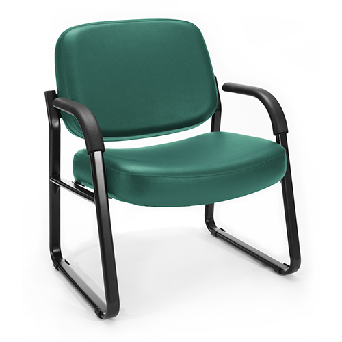 Teal Vinyl Big and Tall Guest/Reception Chair