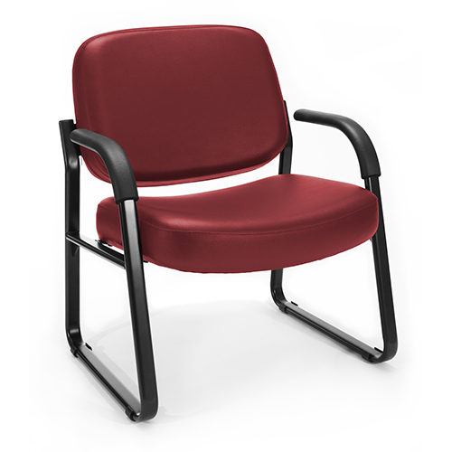 OFM Office Furniture Wine Vinyl Big and Tall Guest/Reception Chair