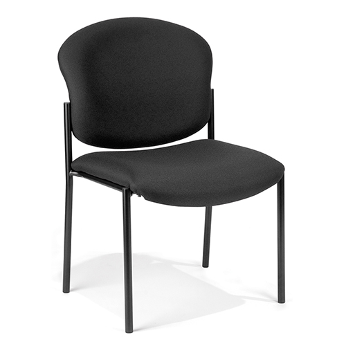 OFM Office Furniture Black Armless Stack Chair
