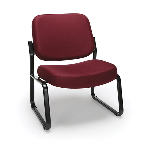 Wine Armless Big and Tall Guest/Reception Chair