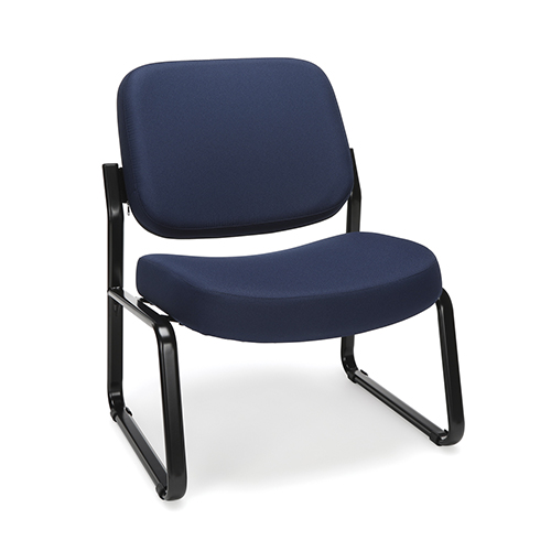 Navy Armless Big and Tall Guest/Reception Chair
