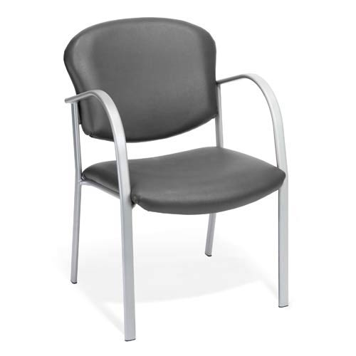 Vinyl Charcoal Guest and Reception Chair
