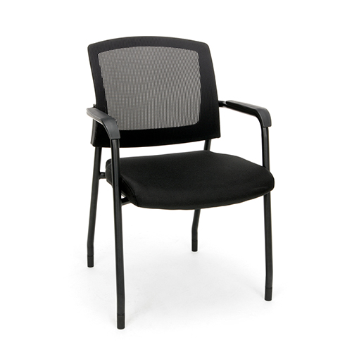 Black Mesh Guest/Reception Chair with Arms