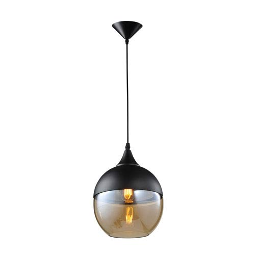 Robertson Blvd. Black One-Light Globe Pendant