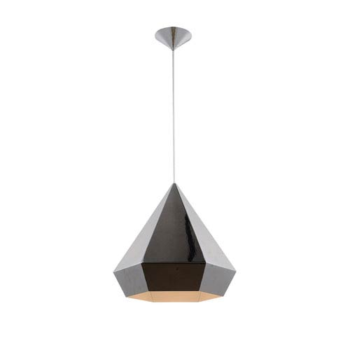 Doheny Ave. Chrome One-Light Pendant