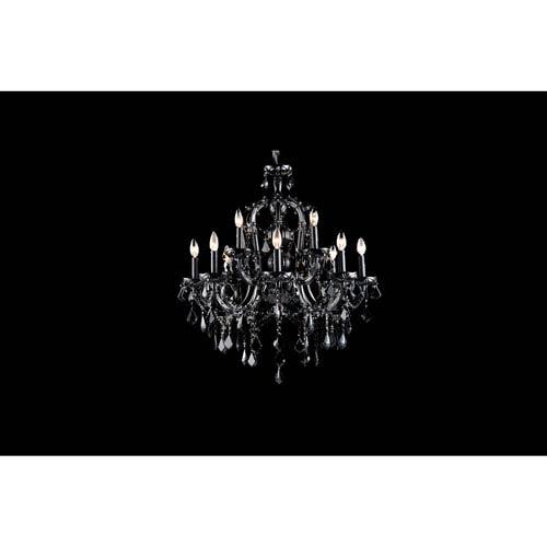 Onyx Ln. Black Crystal Twelve-Light Chandelier