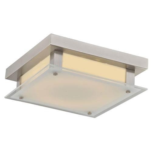 Cermack St. Brushed Nickel 10-Inch LED Flush Mount