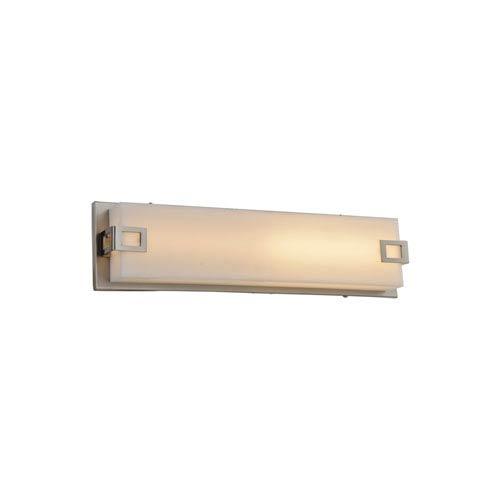 Avenue Lighting Cermack St. Brushed Nickel 16-Inch LED Bath Bar