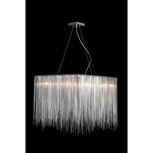 Fountain Blvd. Chrome 24-Inch Eight-Light Square Chandelier
