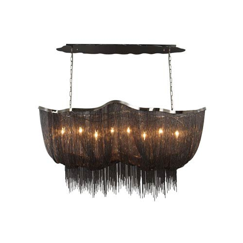 Mulholand Dr. Black Chrome Eight-Light Chandelier