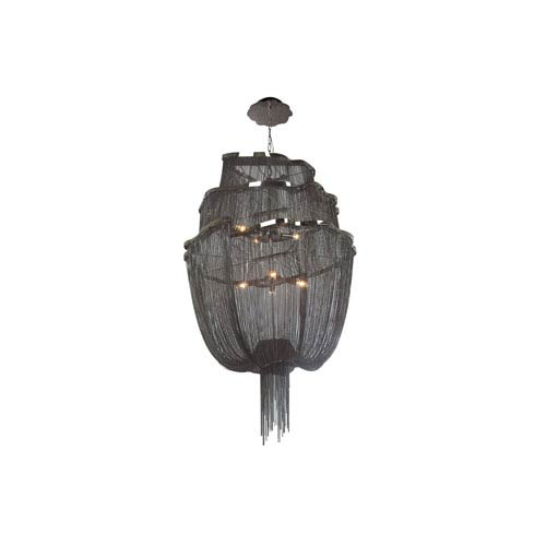 Mulholand Dr. Black Chrome Six-Light Chandelier