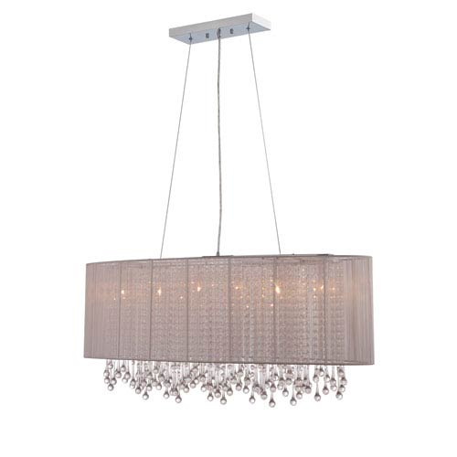 Beverly Dr. Taupe Six-Light Chandelier