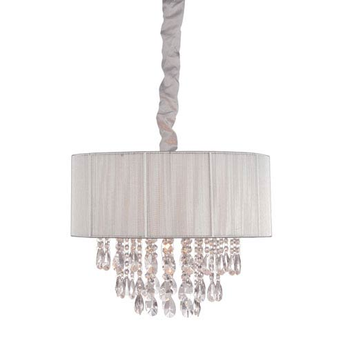 Vineland Ave. Silver Six-Light Chandelier