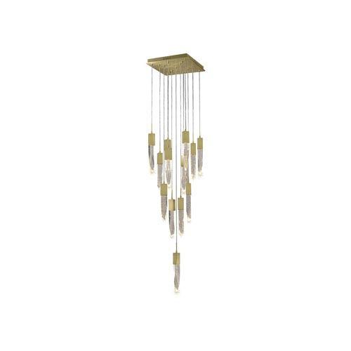 Aspen Brushed Brass 20-Inch LED Flush Mount