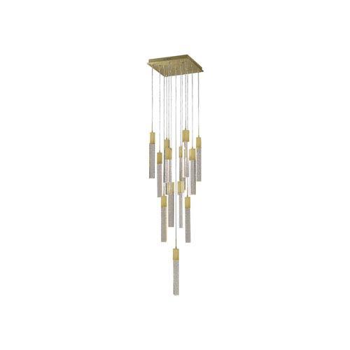 Glacier Ave. Brushed Brass 20-Inch LED Flush Mount