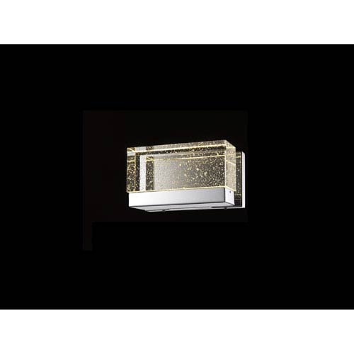 Glacier Avenue Polished Nickel 9-Inch LED Bath Bar