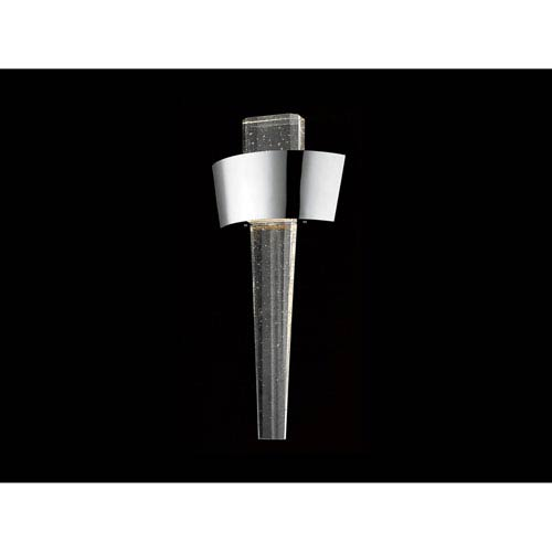 Glacier Avenue Polished Nickel 11-Inch LED Wall Sconce