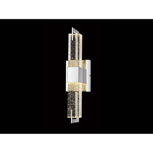 Glacier Avenue Polished Nickel 5-Inch LED Wall Sconce