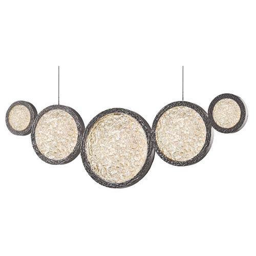 Bottega Polished Nickel 2-Inch LED Chandelier