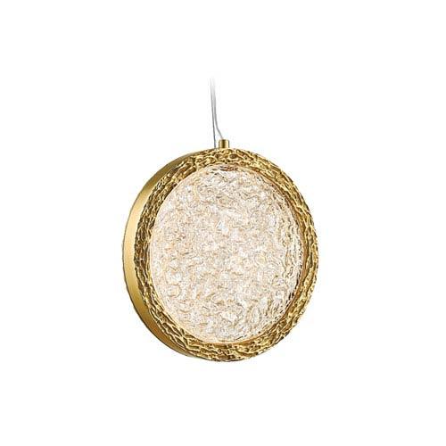 Bottega Polished Brass 13-Inch LED Pendant