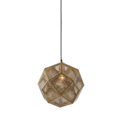 La Brea Ave. Gold 12-Inch One-Light Pendant