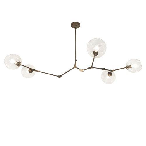 Fairfax Dark Bronze 71-Inch Five-Light Chandelier