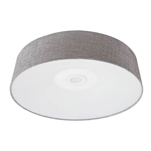 Cermack St. Grey Linen 16-Inch LED Flush Mount