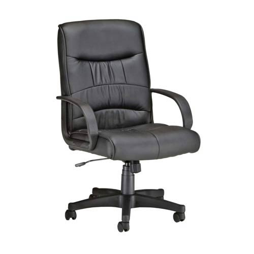 OFM Office Furniture Black Leatherette Mid Back Executive Chair
