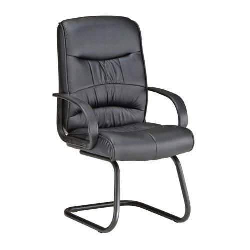 Black Leatherette Guest Chair