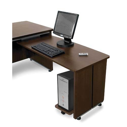 OFM Office Furniture Executive Return Walnut 22 X 48 Desk
