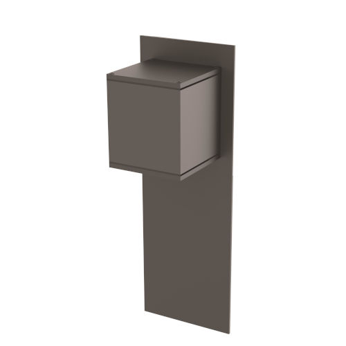 Chinook Black Five-Inch One-Light Outdoor Wall Mount