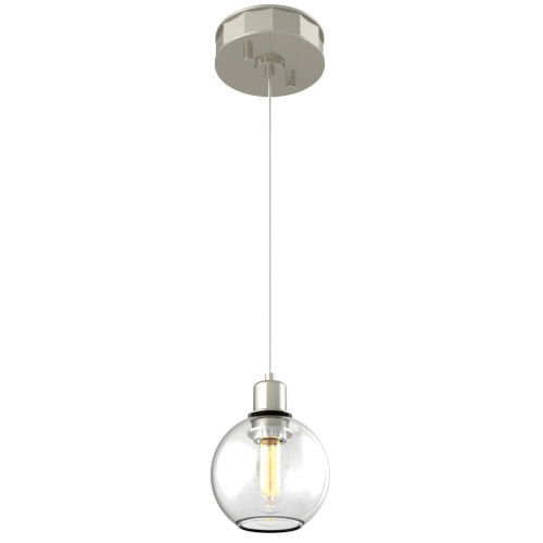 Ocean Drive Satin Nickel and Chrome One-Light Mini Pendant
