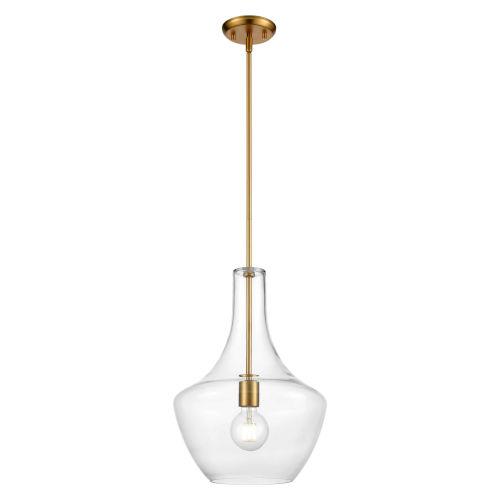 St. Julian Brass One-Light Pendant with Clear Glass