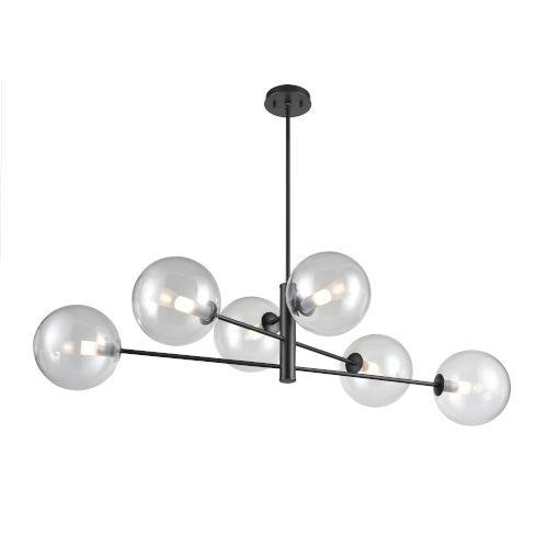 Courcellete Graphite Six-Light Pendant