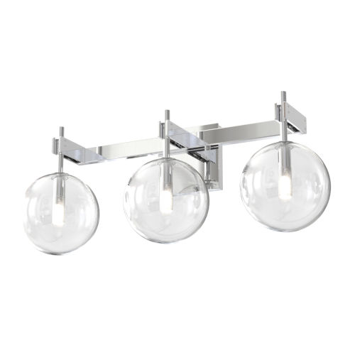 Courcellete Chrome ADA Three-Light Bath Vanity