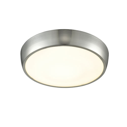 Lachine Satin Nickel and Stainless Steel ADA Two-Light Flushmount