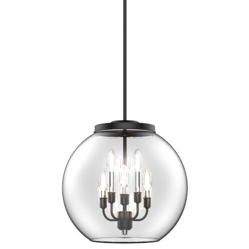 Frontenac Graphite Six-Light Pendant