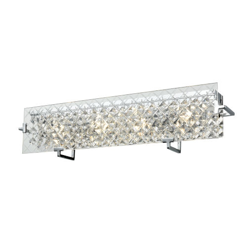 Roxboro Chrome and Crystal ADA Four-Light Bath Vanity