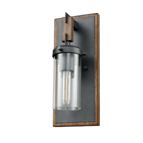 Okanagan Graphite and Ironwood One-Light Wall Sconce