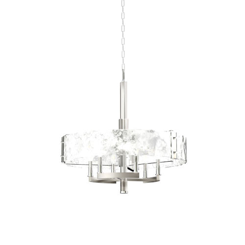 Georgian Bay Chrome and Brushed Nickel Six-Light Chandelier