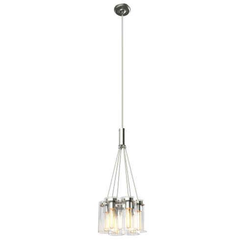 Erin Chrome Six-Light Pendant with Clear Glass