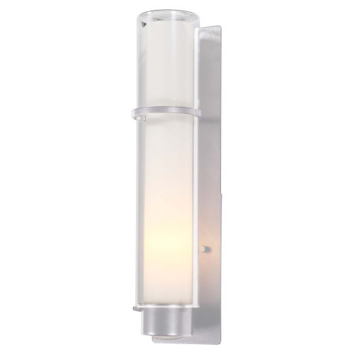 Essex Chrome One-Light Wall Sconce with Half Opal Glass