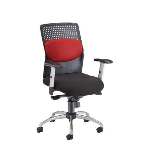 OFM Office Furniture Burgundy AirFlo Desk Chair With Metal Accents