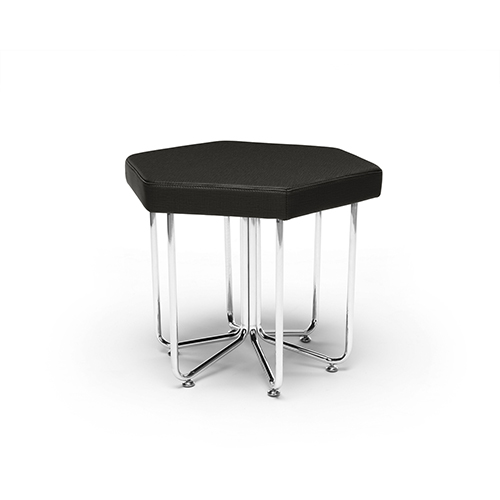 Midnight Hex Series Stool