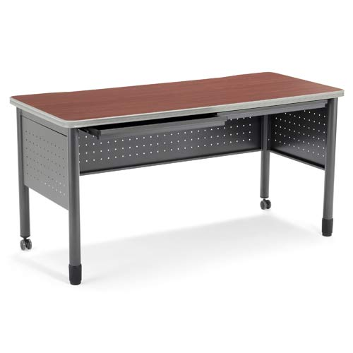 OFM Office Furniture Cherry Table/Desk with Drawers - Cherry
