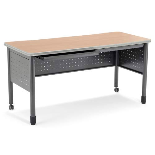 OFM Office Furniture Cherry Table/Desk with Drawers - Maple