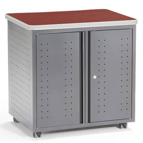 Locking Utility/Fax/Copy 28 x 20 Table - Cherry