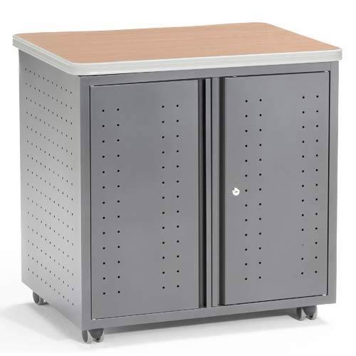 Locking Utility/Fax/Copy 28 x 20 Table - Maple